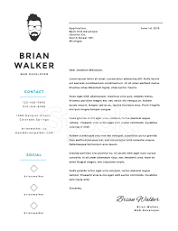 Creative Cover Letter Template Creative And Minimalistic Personal Vector Cover Letter