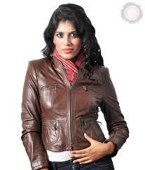 jm brown women s leather jacket