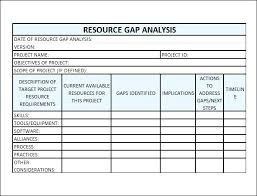 gap analysis template project assessment template excel gap analysis template