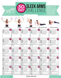 we ve done 3 super successful 30 day challenges flat abs lift thigh slimming and now we are headed to our day sleek arms your moves are arm
