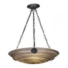 SWIRL   Treacle Glass Ceiling Uplighter Pendant