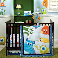 monsters inc baby blankets baby monsters inc 4 piece crib bedding set cookie monster baby blankets