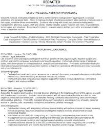 paralegal resume objective examples format and samples for position  professional resumes executive legal assistant or download