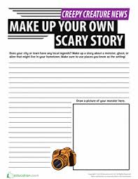how to write a horror story workshe how to write a horror story worksheet