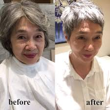 髪のお悩み 50代からグレーヘアのベリーショートに Percent