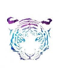Metalický Tygr Nalepovací Tetování Potetujcz