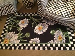 mackenzie childs rug mackenzie childs fl wool rug 5 x 8 black white courtly check border mackenzie childs rug