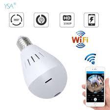 20mp Bulb Light Wireless Ip Panoramic Lamp Fisheye Wifi Camera