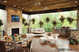 there s nothing else to want in this incredibly spacious outdoor porch space built for a 2016 homearama home