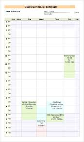 Student Schedule Excel How To Use Excel Student Schedule Template College Software Ms Word