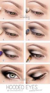 best eyeshadow tutorials hooded eyes easy step by step how to for eye shadow cool makeup tricks and eye makeup tutorial with instructi