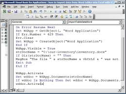 How To Import Data From Word Tables Into Excel With Vba Welcome To