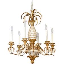 italian carved pineapple six light chandelier at 1stdibs