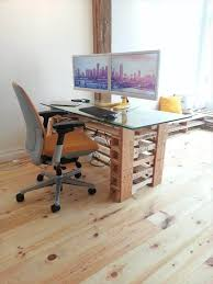 pallet office. Recycled Pallet Computer Desk Office