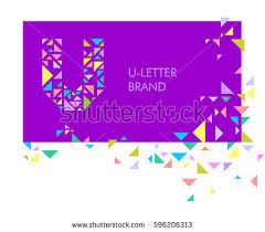 stock vector creative logo for the corporate identity of the pany the letter u the letter is made up of