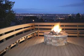 deck fire pits for wooden decks gas fire pit for deck