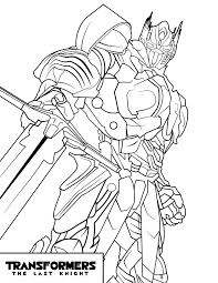 Transformers The Last Knight Coloring Pages Color Cartoontvmovie