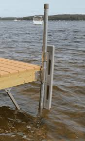 stationary wood dock parts shown in use