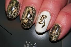 Browning Symbol Nail Designs In Celebration Of Deer Season Camo Nails Hunting Nails