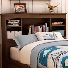 details about twin bookcase headboard wood rustic shelves cubby bedroom furniture oak wooden
