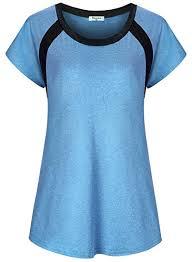 Bobolink Womens Short Sleeve Yoga Tops Dri Fit Workout Running Shirts