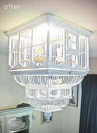 image above turn a birdcage into a light complete with tiny little birds see all the details here ds tape diy gie