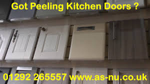 Kitchen Doors Peeling Then Call 01292 265557 Youtube