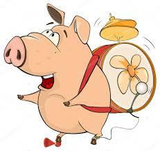 Un Cochon Musicien Avec Tambour Dessin Anim Image Vectorielle