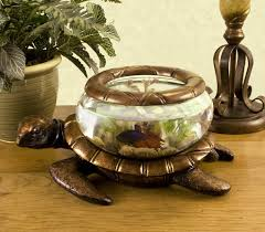 Decorative Fish Bowls Furniture Accessories Bowl Glass Aquarium Turtle Shaped Unique 33