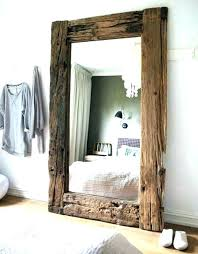 rustic wood mirror frame. Large Wood Framed Mirror Furniture Rustic  Frame Like This Item .