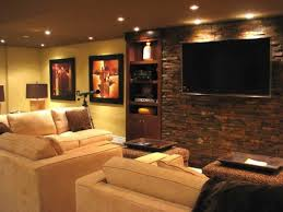 Simple Wall Lighting Brown Laminate Flooring Home Theater Ideas
