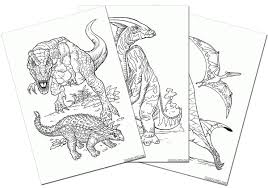 恐竜の塗り絵無料ダウンロード印刷からオンラインぬりえまで 子供の
