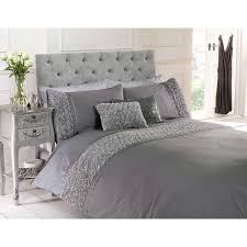 Limoges Grey Luxury Textured Bedding Set - Double