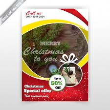 Holiday Flyer Template Vector Free Download
