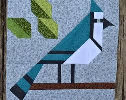 Bird quilt block | Etsy & Blue Jay Quilt BLOCK Pattern, PDF, Instant Download, modern patchwork,  forest, Adamdwight.com