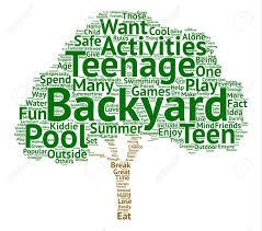 Activities Word Popular Backyard Activities For Teens Word Cloud Concept Text