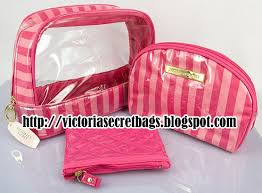 victoria s secret xo fl 3 cosmetic trio makeup bags