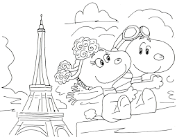 Free Charlie Brown Snoopy And Peanuts Coloring Pages Fifi And