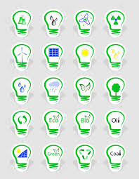 Icons Symbolizing The Different Types Of Energy