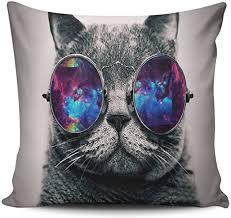 Hoooottle Custom <b>Pretty Cute</b> Galaxy Hipster Cool <b>Cat Euro</b> Square ...