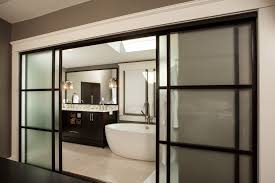 modern sliding doors. Bathroom Modern Glass Shower Sliding Door Bifold Doors