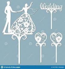 Wedding Cake Topper For Laser Or Milling Cut Vector Graphics