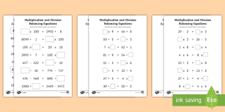 lks2 multiplication and division