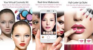 youcam makeup selfie camera and magic makeover app includes various features for change hairstyles lipstick blush eye makeup and more