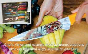 Has been added to your cart. Wildlife Kitchen Knife Set In Gift Box Cool Gifts For Animal Lovers 6 Piece Colorful Chefs Knives Set Awesome Gift Idea For Home Get Well Thank You Engagement Retirement Couples Teachers