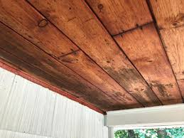 remove mold from a wooden ceiling
