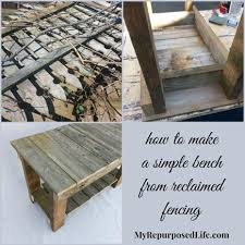 classic diy repurposed furniture pictures 2015 diy. How-to-make-simple-bench-reclaimed-fencing Classic Diy Repurposed Furniture Pictures 2015