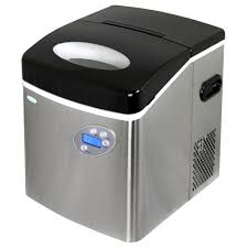 Cube Ice Maker Newair 50 Lb Freestanding Ice Maker In Stainless Steel Ai 215ss