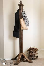 Standing Coat Rack Plans Mesmerizing DIY Coat Rack Pinterest Diy Coat Rack Coat Tree And Hat Stands