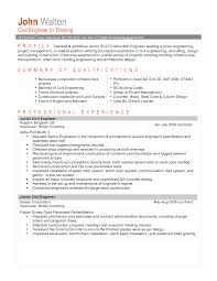 Bunch Ideas Resume Project Manager Position Civil Engineering